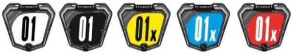 Couleurs plaques de BMX race